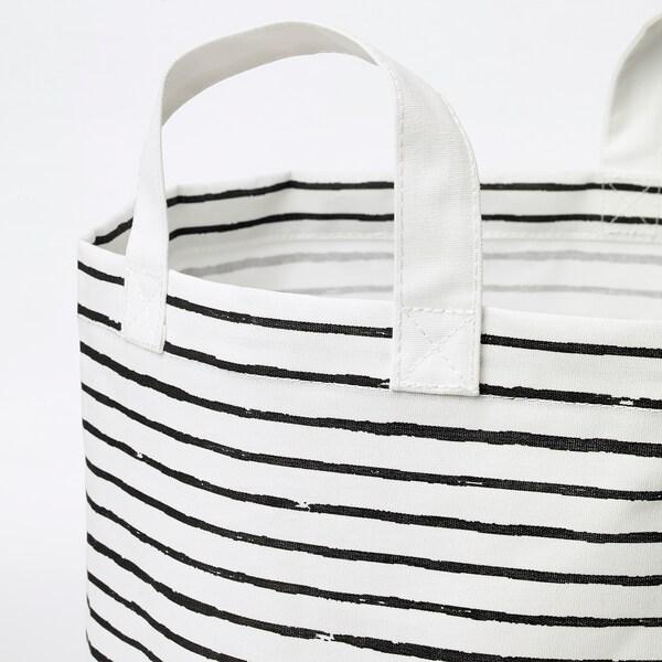 KLUNKA Vreća za rublje, bijela/crna, 60 l