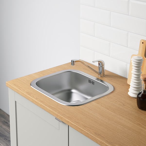 KNOXHULT Kutna kuhinja, siva, 243x164x220 cm