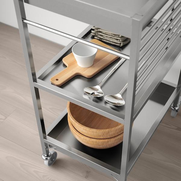 KUNGSFORS Kuhinjska kolica, nehrđajući čelik, 60x40 cm