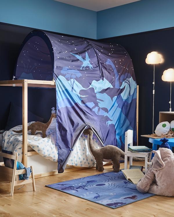 KURA Šator za krevet, dinosaur