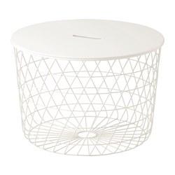 KVISTBRO  stol + odlaganje, 61 cm, bijela