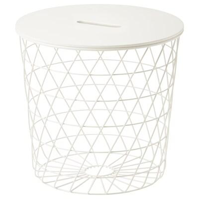 KVISTBRO Stol+odlaganje, bijela, 44 cm