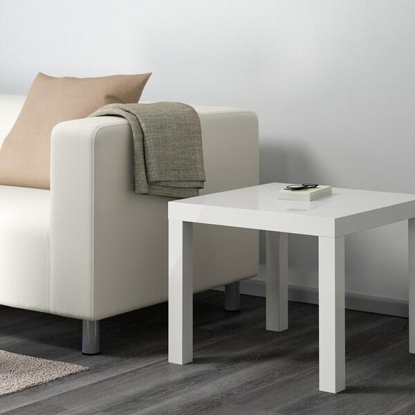 LACK Pomoćni stol, visoki sjaj bijela, 55x55 cm