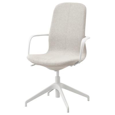 LÅNGFJÄLL Konferencijska stolica, Gunnared bež/bijela