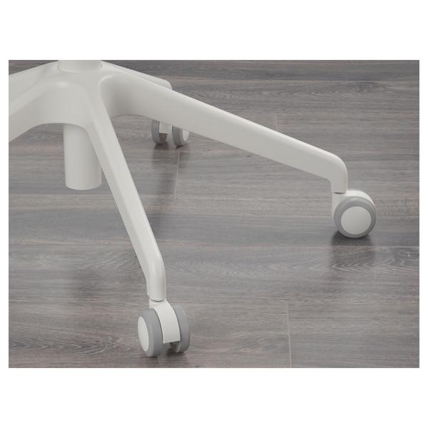 LÅNGFJÄLL Uredska stolica s naslonima za ruke, Gunnared tamnosiva/bijela