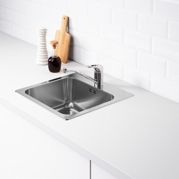 LÅNGUDDEN ugrad sudoper,1 bazen nehrđajući čelik 18 cm 40 cm 33 cm 44 cm 44 cm 46 cm 46.0 cm 45.5 cm 18.0 l