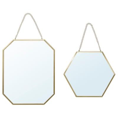 LASSBYN Ogledalo, 2 kom, zlatna