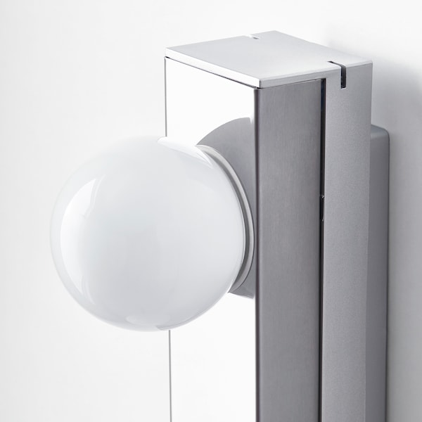 LEDSJÖ LED zidna lampa nehrđajući čelik 500 lm 60 cm 6 cm 11 cm 9 W