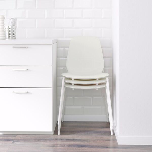LEIFARNE Stolica, bijela/Broringe bijela