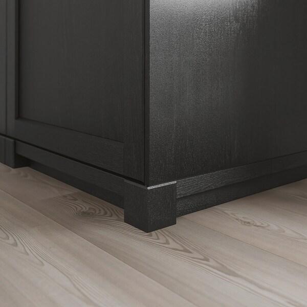 LERHYTTAN Kutna noga za ukrasno postolje, crni bajc, 8 cm