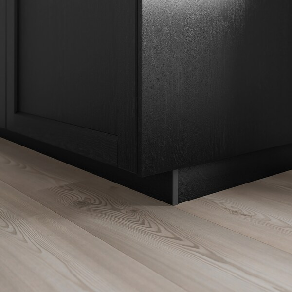 LERHYTTAN Postolje, crni bajc, 220x8 cm