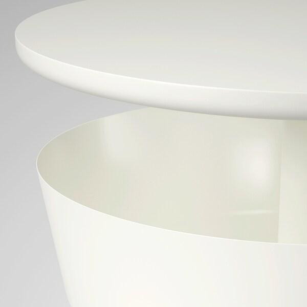 LIERSKOGEN noćni ormarić bijela 74 cm 42 cm