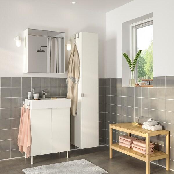 LILLÅNGEN / LILLÅNGEN kupaonski namještaj, 6 kom. bijela/Ensen miješalica za vodu 61 cm 60 cm 41 cm 89 cm