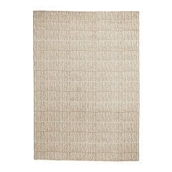 LINDELSE tepih, visoki flor, 170x240 cm, prirodna boja/bež