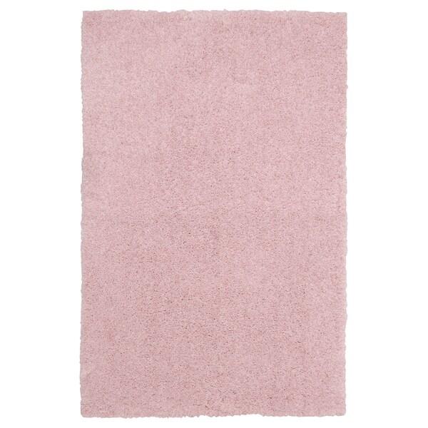 LINDKNUD tepih, visoki flor roza 90 cm 60 cm 9 mm 0.54 m² 1610 g/m² 950 g/m² 26 mm