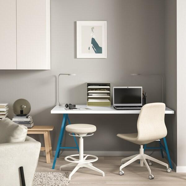 LINNMON / LERBERG Stol, bijela/plava, 150x75 cm