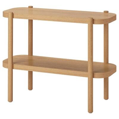 LISTERBY Konzolni stolić, bijeli bajc hrast, 92x38x71 cm