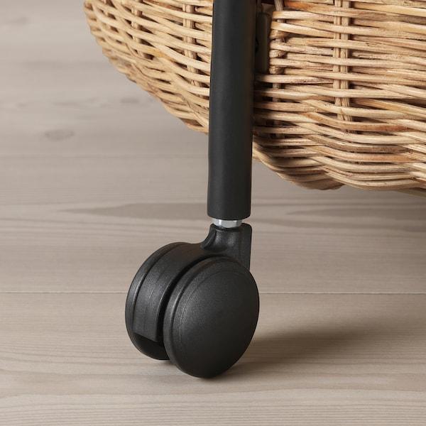LUBBAN Kolica za posluživanje+spremnik, ratan/antracit