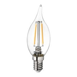 LUNNOM  LED žarulja E14 200 lm, 35 mm, luster prozirno staklo