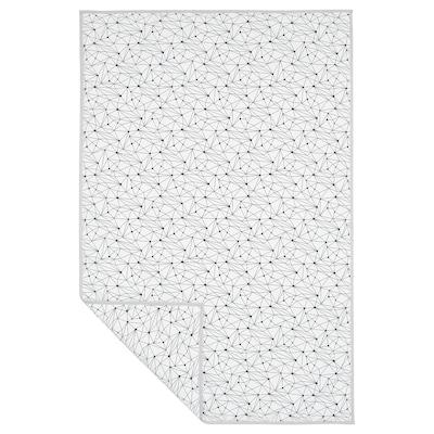 LURVIG Deka, bijela/crna, 100x150 cm