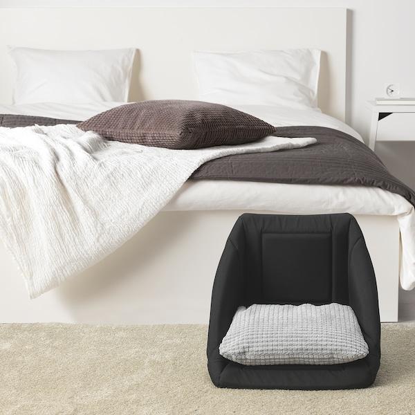 LURVIG Krevet/kućica za mačku, crna/bijela, 38x38x37 cm