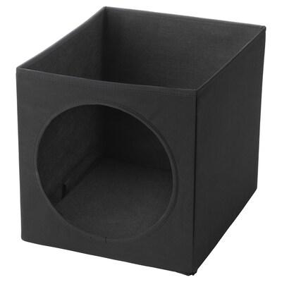 LURVIG Kućica za mačku, crna, 33x38x33 cm
