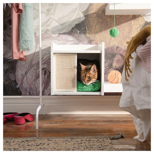 LURVIG Kućica za mačku na nogama, bijela