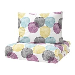 MALIN RUND  navlaka i jastučnica, 150x200/50x60 cm, višebojno
