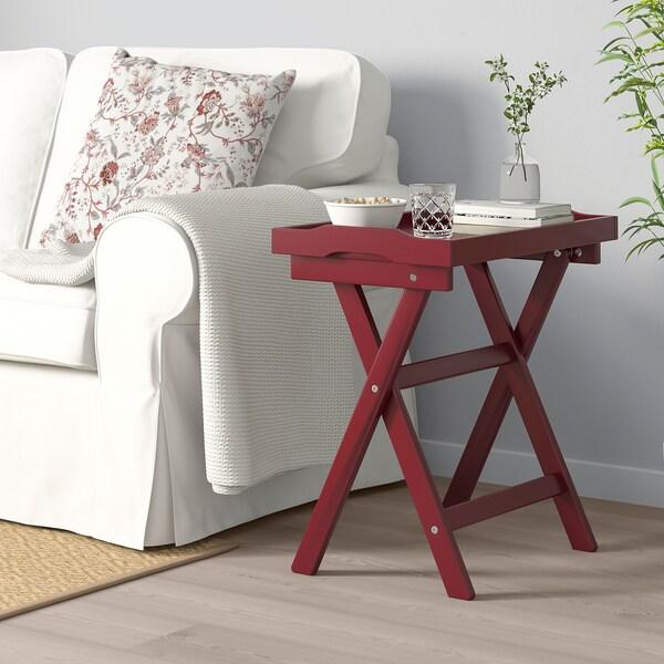MARYD stol/poslužavnik tamnocrvena 58 cm 38 cm 58 cm
