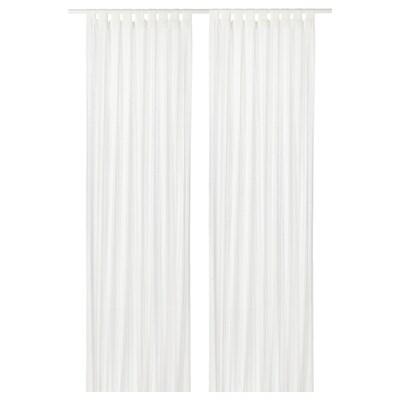 MATILDA Prozirne zavjese, 1 par, bijela, 140x300 cm