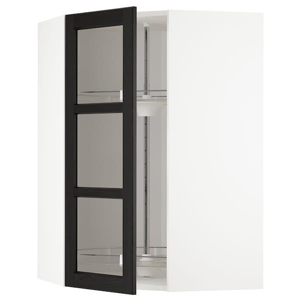 METOD Kutni zid element+okr umet/stk vrat, bijela/Lerhyttan crni bajc, 68x100 cm
