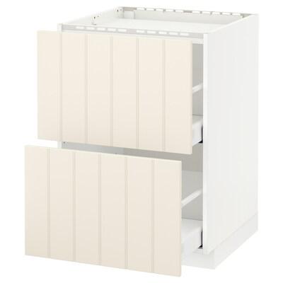 METOD / MAXIMERA pod elem,kuh/2fr/2lad bijela/Hittarp krem 60.0 cm 61.6 cm 88.0 cm 60.0 cm 80.0 cm