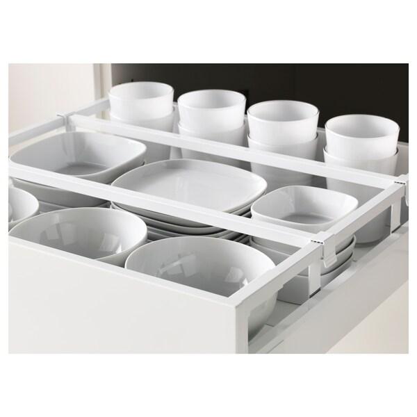 METOD / MAXIMERA Vis elm+polic/4 ladice/vr/2 fronte, bijela/Veddinge bijela, 60x60x220 cm