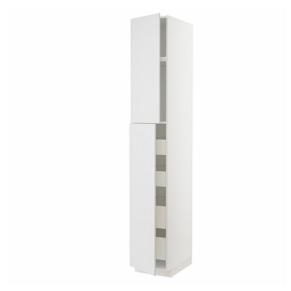 METOD / MAXIMERA Visoki element s 2 vrata/4 ladice, bijela/Stensund bijela, 40x60x240 cm