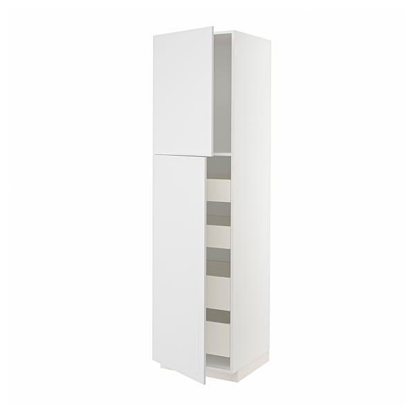 METOD / MAXIMERA Visoki element s 2 vrata/4 ladice, bijela/Stensund bijela, 60x60x220 cm