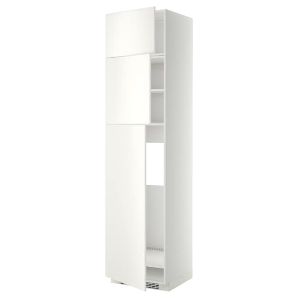 METOD Visoki element za hladnjak/3 vrata, bijela/Veddinge bijela, 60x60x240 cm