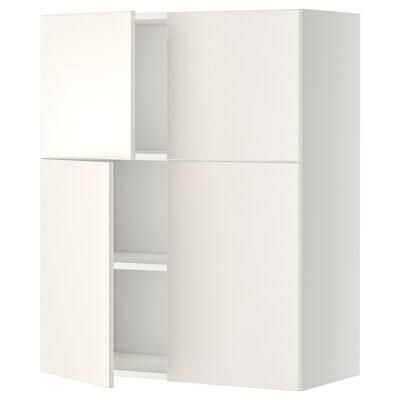 METOD Zidni element+pol/4vrata, bijela/Veddinge bijela, 80x100 cm