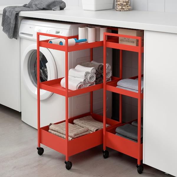 NISSAFORS Kolica, crveno-narančasta, 50.5x30x83 cm
