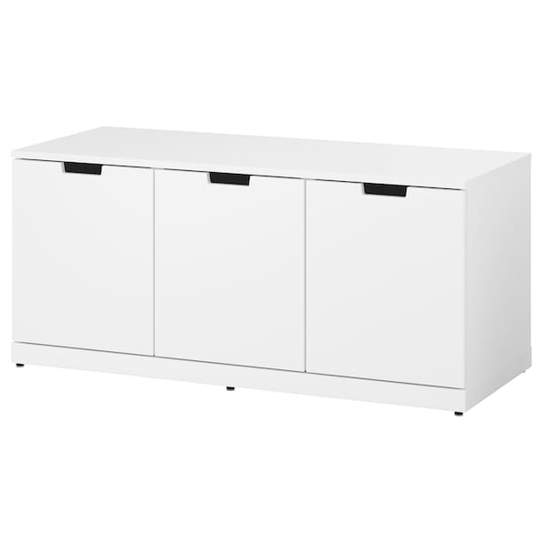 NORDLI Komoda s 3 ladice, bijela, 120x54 cm