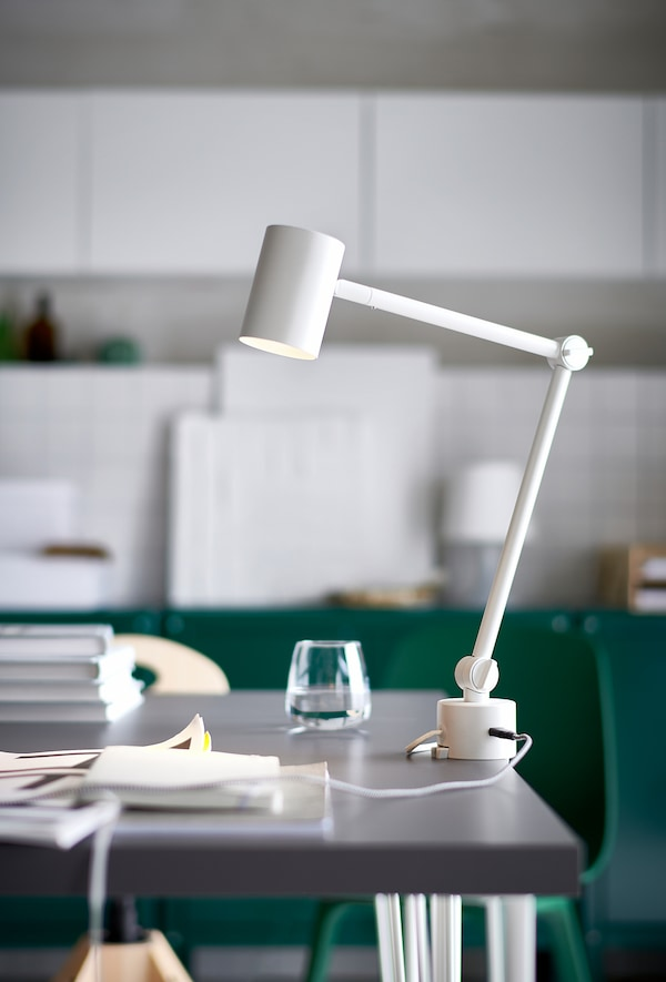 NYMÅNE Radna/zidna lampa, bijela