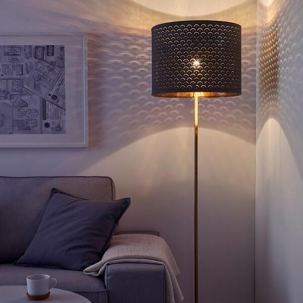 NYMÖ Sjenilo lampe, crna/boja mjeda, 44 cm