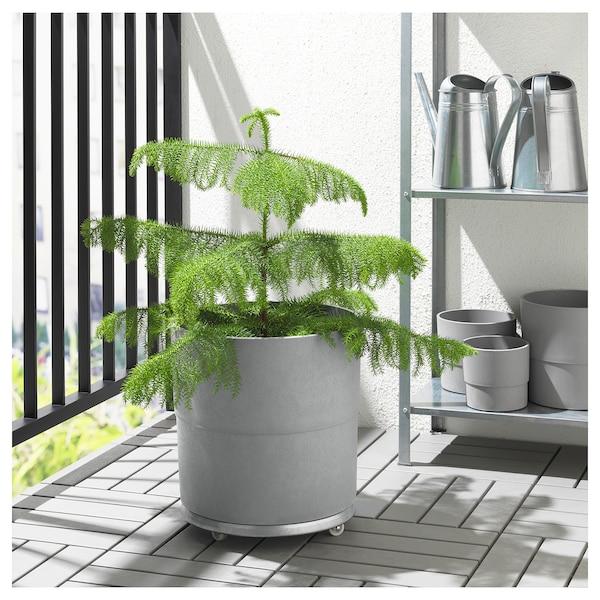 NYPON tegla za biljke u zatvorenom/na otvorenom siva 32 cm 34 cm 32 cm 33 cm