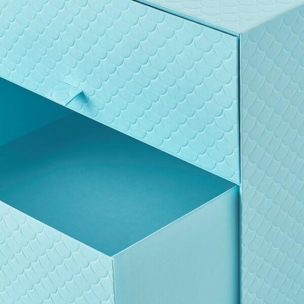 PALLRA Mini komoda,3ladice, svijetloplava, 31x26x31 cm