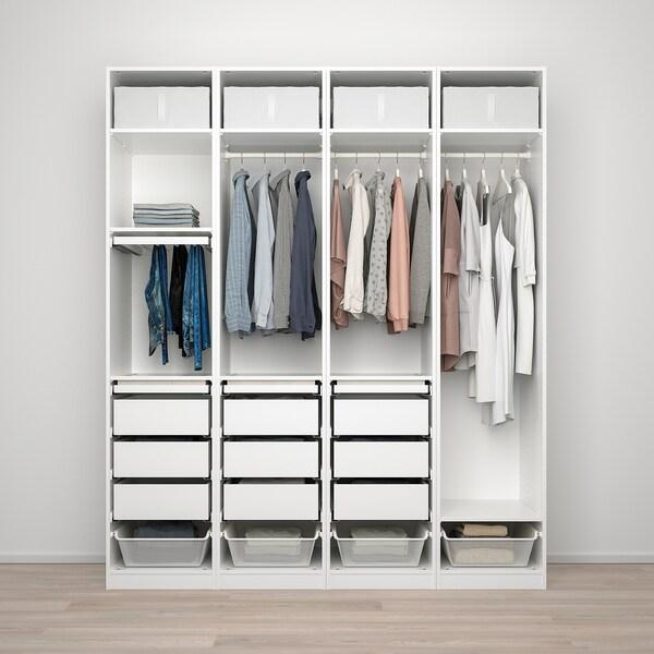 PAX Komb/ormar, bijela, 200x58x236 cm
