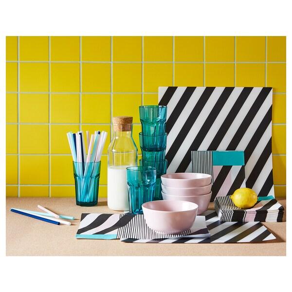 PIPIG Podmetač za stol, na crte/crna/bijela, 37x37 cm