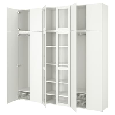 PLATSA Kombinacija za odlaganje s 12 vrata, bijela/Fonnes Värd, 240x42x241 cm