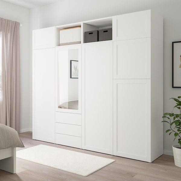 PLATSA Ormar sa 7 vrata i 3 ladice, bijela/Sannidal Ridabu, 240x57x221 cm
