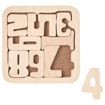 PYSSLA Puzzle, brojevi/šperploča