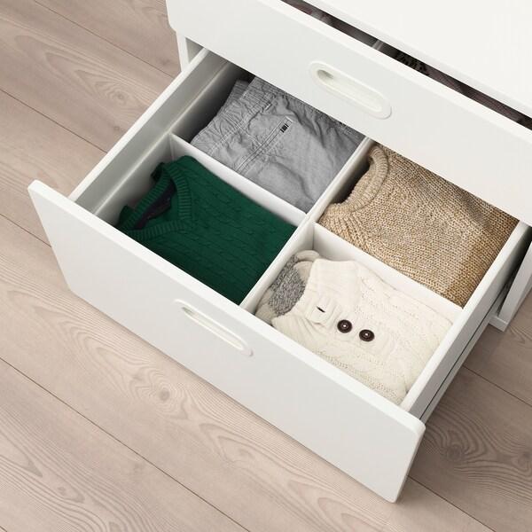 RASSLA Kutija s odjeljcima, bijela, 25x41x16 cm