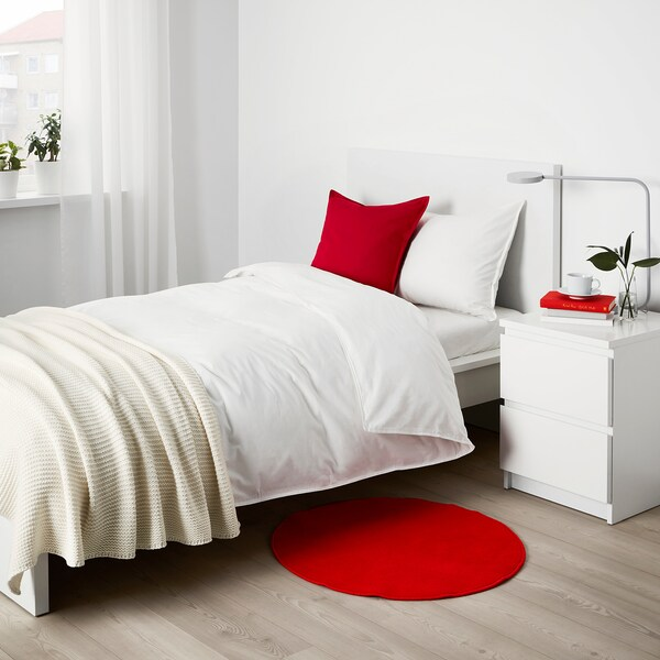 RISGÅRDE Tepih, niski flor, crvena, 70 cm